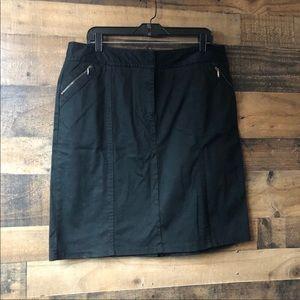 New York & Company Black Zip Pocket Mini Skirt
